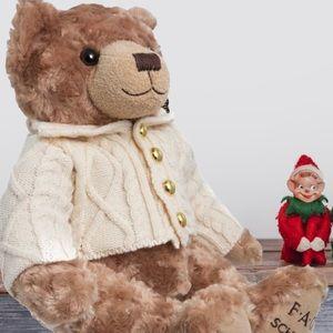 """FAO Schwarz Plush Fuzzy Classic 12"""" Teddy Bear Toy"""